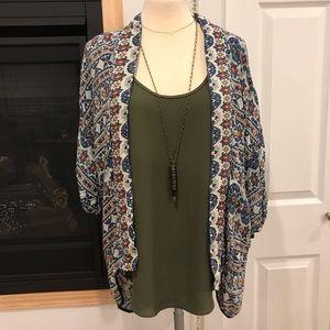 Tops - Hippie Laundry Short Printed Kimono
